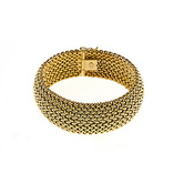 Yellow-gold bracelet, mesh, high polish, yellow gold, ladies, fine jewelry, NJ