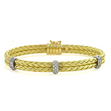 Gold bracelet, bangle, diamond, basket weave, fine jewelry, local jeweler in NJ, Lee Richards Fine Jewelry, Pt. Pleasant, NJ,