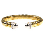 yellow gold, cuff bracelet, diamonds, 18k gold, fine jewelry, NJ,