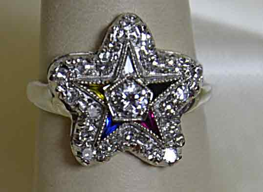 Star diamond ring, pre-owned, vintage, Lee Richards Fine Jewelry, Pt. Pleasant, NJ,