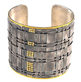Silver, 24kt gold, straw cuff, diamonds, fine jewelry, HERCO Jewelry, Lee Richards Fine Jewelry, Pt. Pleasant, NJ,