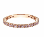 14kt pink gold, sapphire, stackable, ladies ring, sapphires, fine jewelry, Gabriel, NY, Carizza, NJ, local jeweler,