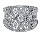 14kt white gold, Lusso Diamond, wide band, ladies ring, pave diamonds, fashion ring, fine jewelry, local jeweler, Monmouth County, NJ