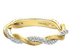 Yellow Gold, Twisted-Pave, Diamond, stackable, ladies ring, yellow gold, Momouth County, NJ, local jeweler,