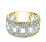 14kt Yellow, White Gold, Lusso Diamond, wide, Ladies Band, gold, fine jewelry, NJ
